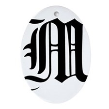 Gothic Initial M Ornament (Oval)