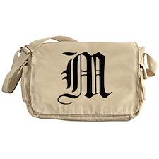Gothic Initial M Messenger Bag