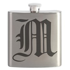 Gothic Initial M Flask