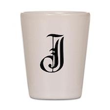 Gothic Initial J Shot Glass