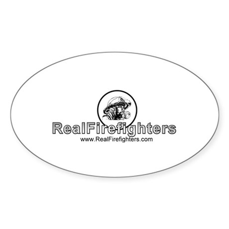 Real Firefighters Logo Oval Sticker