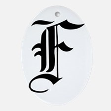 Gothic Initial F Ornament (Oval)