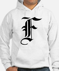 Gothic Initial F Hoodie