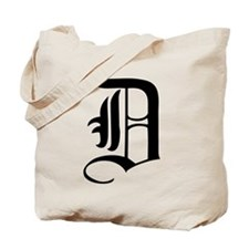 Gothic Initial D Tote Bag