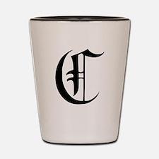 Gothic Initial C Shot Glass