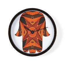Hamsa Hand Orange and Black Wall Clock