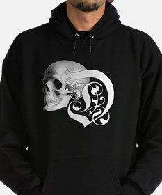 Gothic Skull Initial D Hoodie