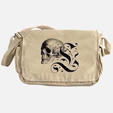 Gothic Skull Initial L Messenger Bag