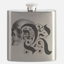 Gothic Skull Initial R Flask