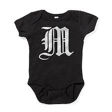 Gothic Initial M Baby Bodysuit