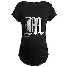 Gothic Initial M T-Shirt