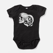 Gothic Skull Initial D Baby Bodysuit