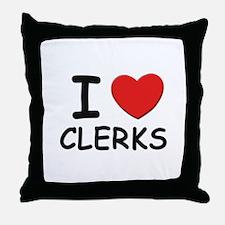 I love clerks Throw Pillow