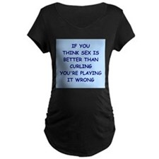 CURLING Maternity T-Shirt