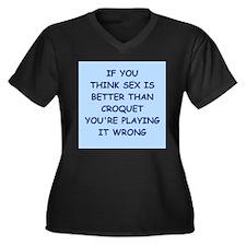 CROQUET Plus Size T-Shirt