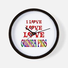 Love Love Guinea Pigs Wall Clock