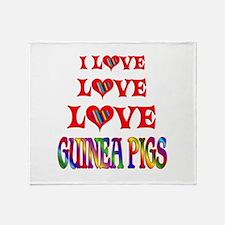 Love Love Guinea Pigs Throw Blanket