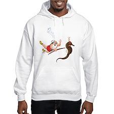 Scuba Santa & Seahorse Reindeer Hoodie
