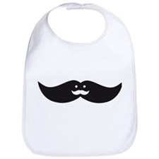 mustache face design Bib