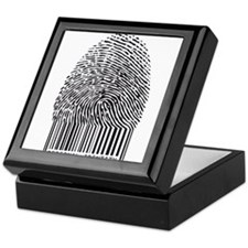 personal identity, fingerprint with bar code Keeps