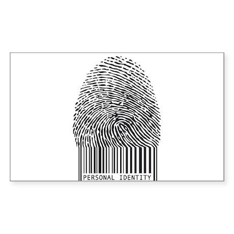 personal identity, fingerprint with bar code Stick