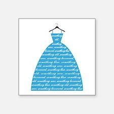 something blue, wedding dress, bridal gown Sticker