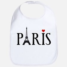 Paris with Eiffel tower and red heart Bib