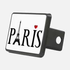 Paris with Eiffel tower and red heart Hitch Cover