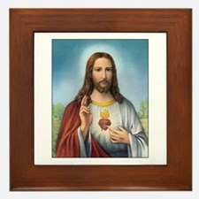 Sacred Heart of Jesus Framed Tile