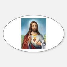Sacred Heart of Jesus Oval Decal