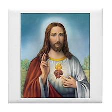 Sacred Heart of Jesus Tile Coaster