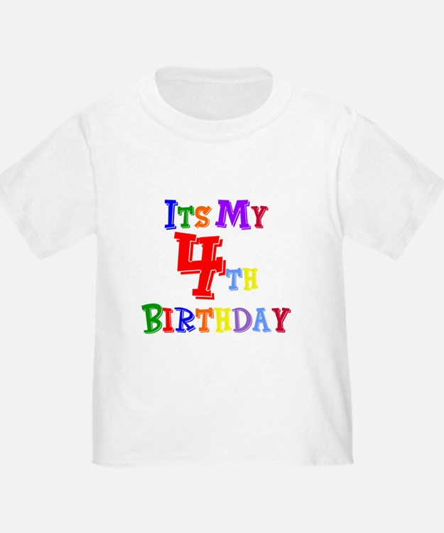 4th Birthday Kids T-Shirt