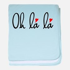 Oh la la, French word art with red hearts baby bla