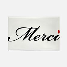 Merci, French word art with red heart Rectangle Ma