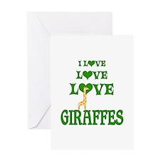 Love Love Giraffes Greeting Card