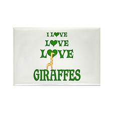 Love Love Giraffes Rectangle Magnet (10 pack)