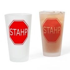 STAHP Drinking Glass