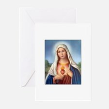 Immaculate Heart of Mary Greeting Cards (Package o