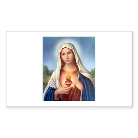 Immaculate Heart of Mary Rectangle Sticker