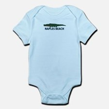 Naples Beach - Alligator Design. Infant Bodysuit