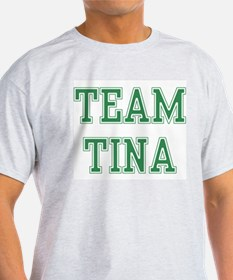 TEAM TINA  Ash Grey T-Shirt
