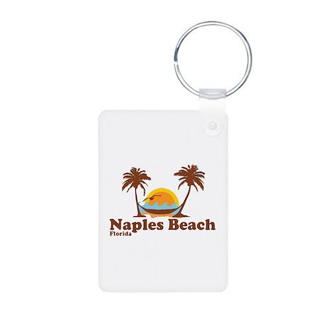 Naples Beach - Palm Trees Design. Aluminum Photo K