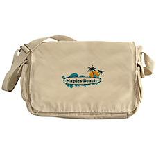 Naples Beach - Surf Design. Messenger Bag