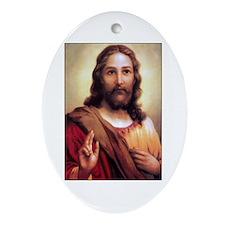 Jesus Christ Oval Ornament