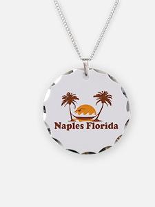Naples FL - Palm Trees Design. Necklace