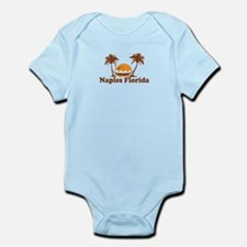Naples FL - Palm Trees Design. Infant Bodysuit