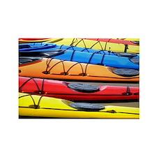 Colorful Kayak Rectangle Magnet