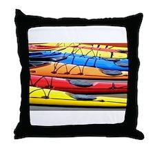 Colorful Kayak Throw Pillow