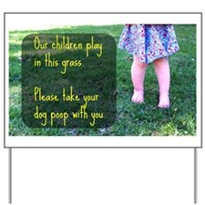 Cute Playing Yard Sign