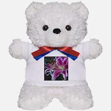 Stargazer Lily Magenta Pink Teddy Bear